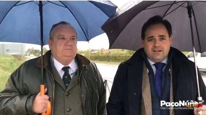 Paco Núñez muestra su compromiso de llevar a cabo el desdoblamiento de la carretera M-117 hasta El Casar