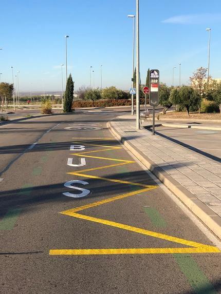 En marcha la nueva parada del servicio urbano de autobús junto a los nuevos juzgados de Guadalajara capital