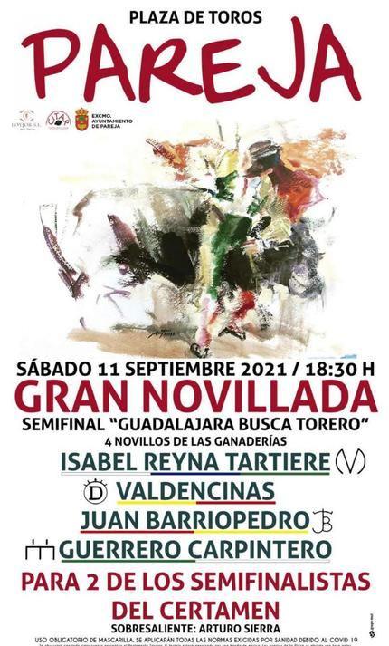 Sánchez Vara y una semifinal de 'Guadalajara Busca Torero', entre los grandes atractivos del programa cultural parejano de septiembre