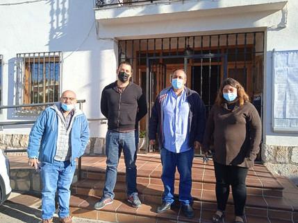 El diputado provincial de Unidas Podemos Izquierda Unida visita el consistorio de Pioz