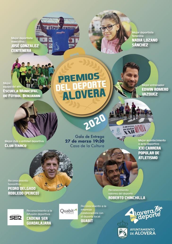 El ciclista Perico Delgado y el protagonista de Campeones Roberto Chinchilla parte de los reconocidos en los Premios del Deporte de Alovera