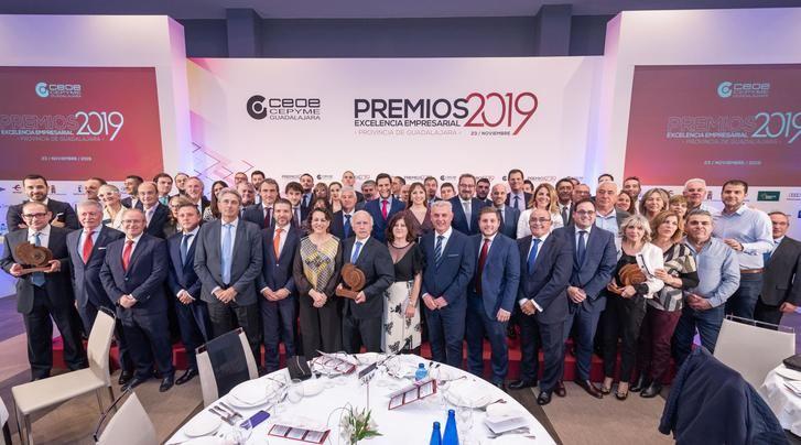 """CEOE-CEPYME Guadalajara entrega sus premios Excelencia Empresarial 2019 durante la """"Noche de la Economía alcarreña"""""""
