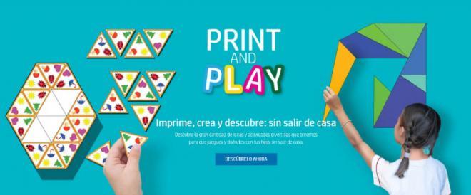 Print, Play & Learn, recursos educativos gratuitos de HP para familias en los tiempos del coronavirus