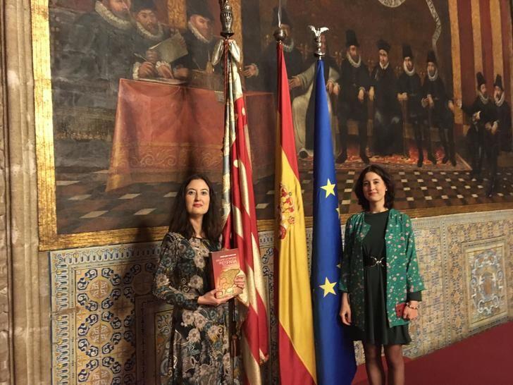 Las profesoras Laura Lara y María Lara en el V Congreso Universitario de Historia Comarcal de Valencia