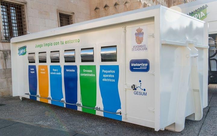 Cambio de ubicación del punto limpio móvil en la Guadalajara