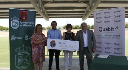 Presentación de Quabit Las Suertes como el nuevo patrocinador del Club de Fútbol de Alovera