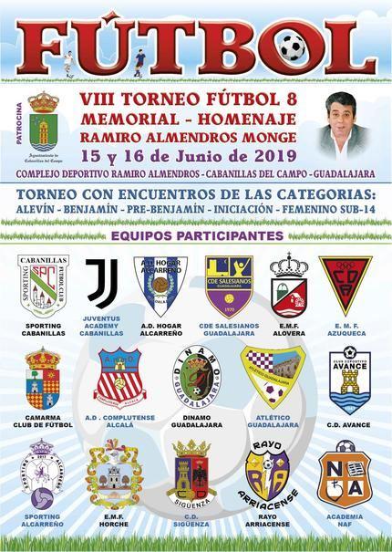 El Sporting Cabanillas organiza el 8º Memorial Ramiro Almendros, los días 15 y 16 de junio