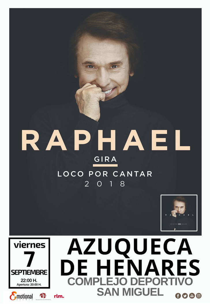 Una tromba de agua obliga a suspender el concierto de Raphael en Azuqueca al poco de comenzar