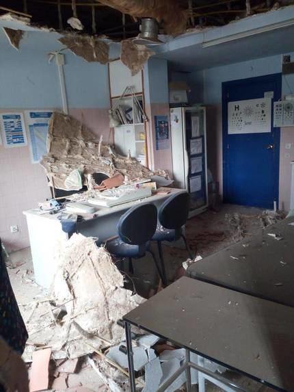 Ratas, lombrices y un techo caído y derrumbado en el Centro de Salud de Tomelloso