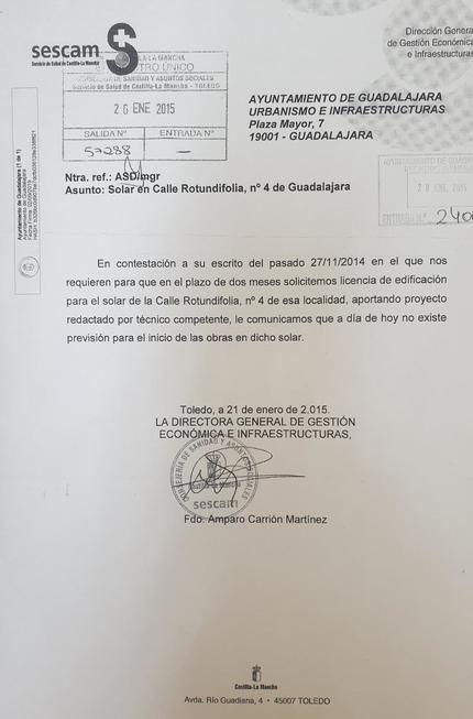 Rojo vuelve a vender humo con el centro de salud de Los Valles de Guadalajara para el que la Junta ha presupuestado cero euros en 2020
