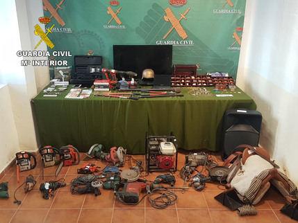 La Guardia Civil de Ciudad Real detiene a catorce personas e investiga a otras dos por 60 robos en Iglesias y Ayuntamientos