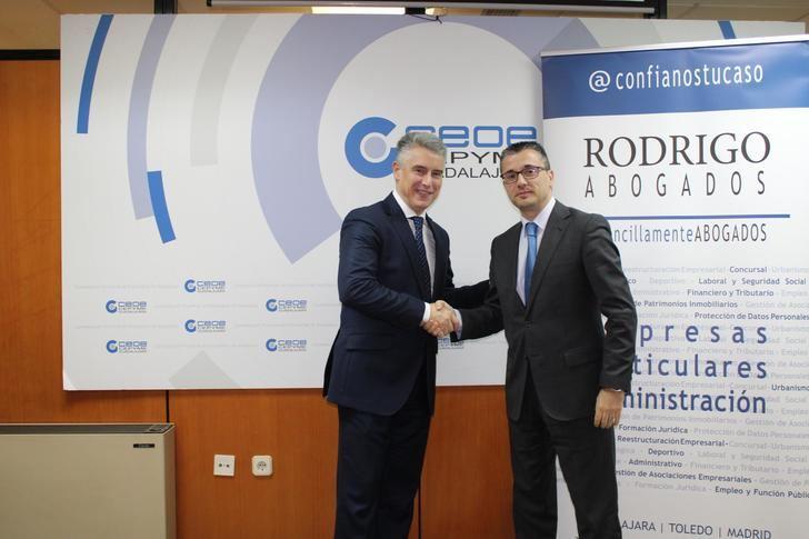 CEOE-CEPYME Guadalajara y el bufete Rodrigo Abogados renuevan su Convenio de Colaboración