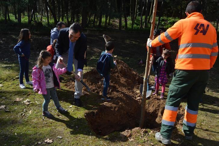 El alcalde de Guadalajara participa en una nueva plantación de árboles promovida por el Ayuntamiento