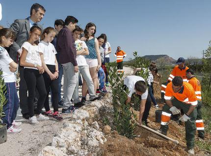 """La """"Ruta del Colesterol"""" de Guadalajara, objeto de la plantación de 1.500 laureles"""