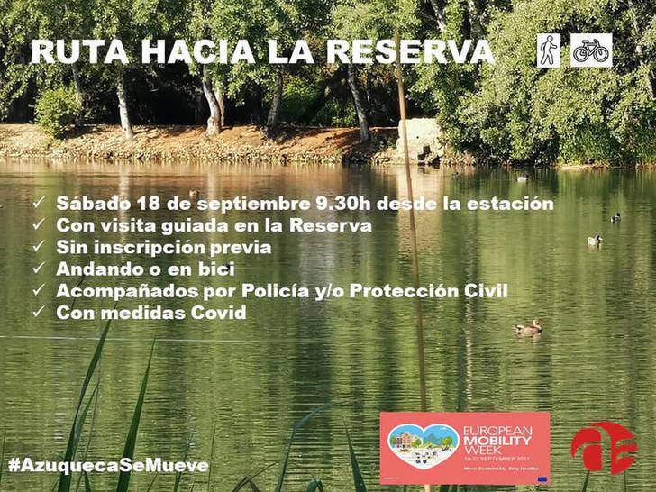 Azuqueca se suma a la Semana Europea de la Movilidad con una ruta hacia la Reserva Ornitológica Municipal