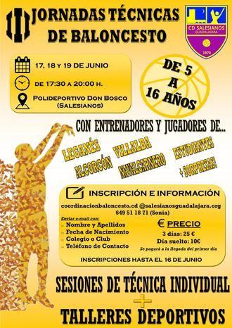 El CD Salesianos organiza en Guadalajara sus III Jornadas Técnicas de Baloncesto