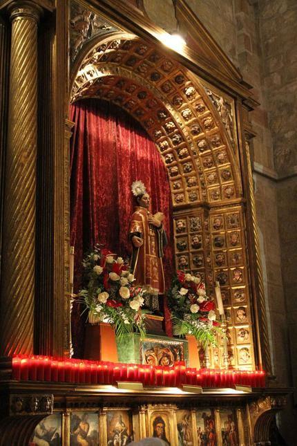 Solo celebración religiosa de la fiesta patronal de San Vicente en Sigüenza