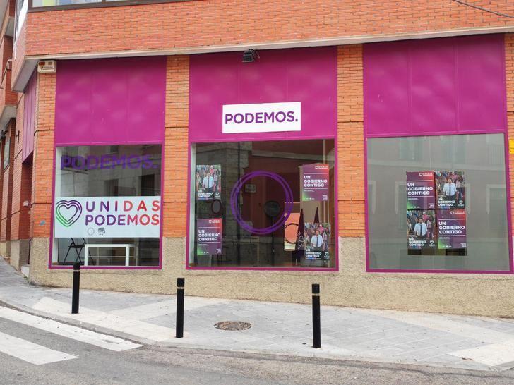 Juan Carlos Monedero inaugura la sede de Podemos en Guadalajara