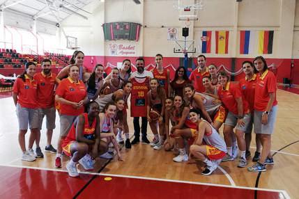 Azuqueca acoge a la Selección Nacional de baloncesto U16 femenina