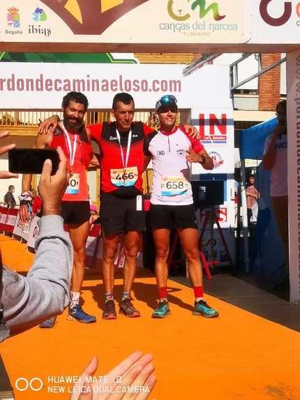 Sergio Tejero, primero por la izquierda