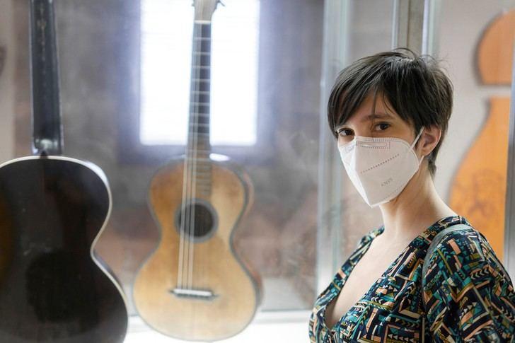 La guitarrista Silvia Nogales, este sábado en San Roque de Sigüenza