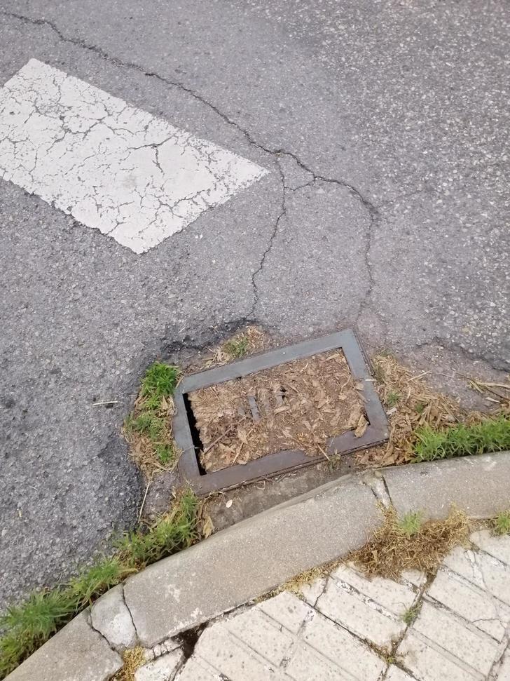Falta de mantenimiento en la red de alcantarillado de las calles de Azuqueca
