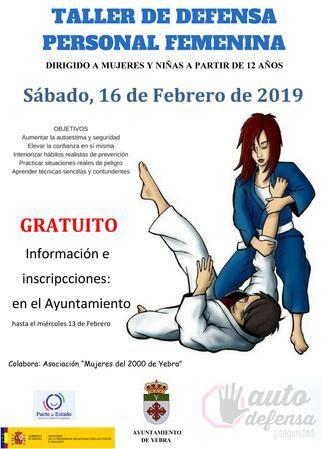 El sábado 16 de febrero taller de defensa personal femenina en Yebra