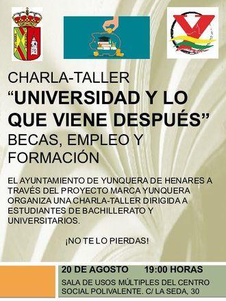 Una charla-taller orientará a los jóvenes de Yunquera sobre sus posibilidades de formación y empleo