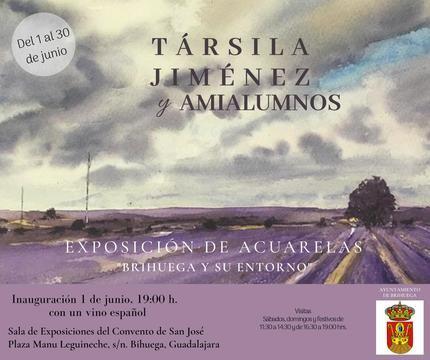 Acuarelas de Társila Jiménez en Brihuega este mes de junio