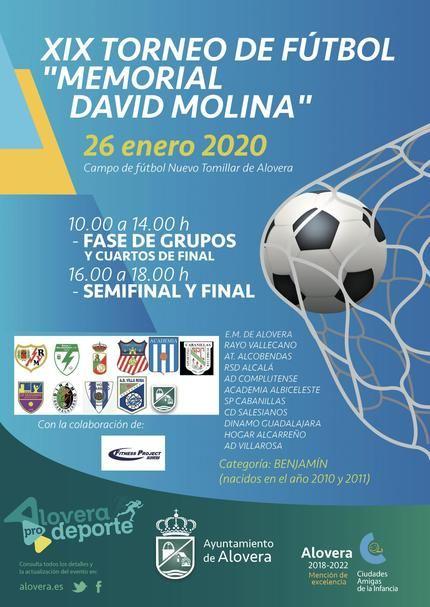 """XIX Torneo de Fútbol """"Memorial David Molina"""" en Alovera"""