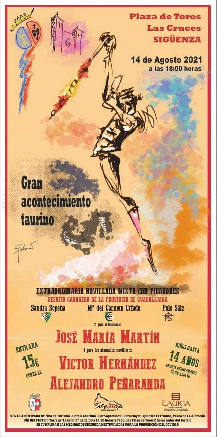 Tauria Guadalajara ha confeccionado un atractivo cartel para la vuelta de los toros a Sigüenza