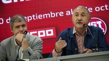 Unai Sordo y Pepe Álvarez participan este miércoles en una asamblea en Guadalajara con cerca de 400 delegados y delegadas sindicales