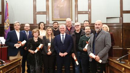 José Luis Vega hace entrega de los Premios Provincia de 2019 convocados por la Diputación de Guadalajara