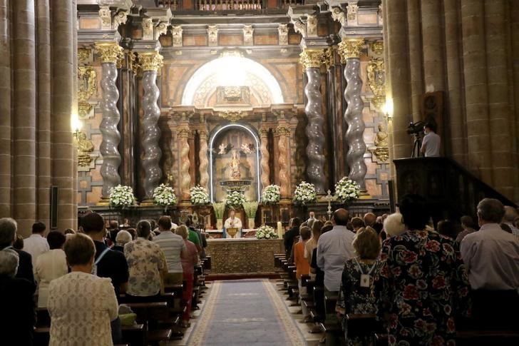 Celebración religiosa de la fiesta de la patrona de Sigüenza, la Virgen de la Mayor