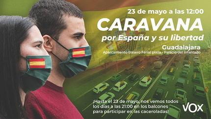 Vox Guadalajara ya tiene permiso para manifestarse en coche contra el Gobierno de Sánchez el próximo sábado 23 de mayo