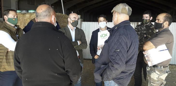 VOX visita a los ganaderos y agricultores del Señorío de Molina para trasladar sus inquietudes a Bruselas
