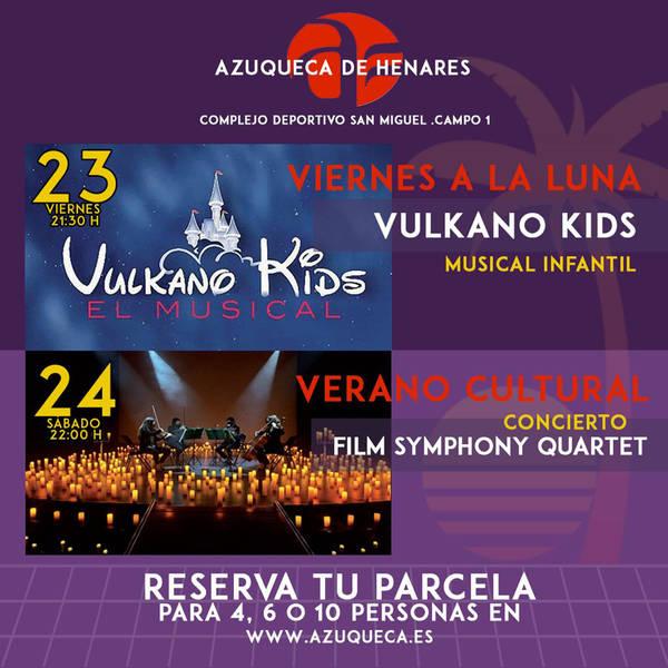 Este fin de semana, llega al San Miguel de Azuqueca el musical infantil 'Vulkano Kids' y el concierto del 'Film Symphony Quartet'