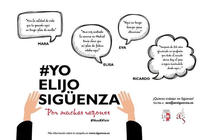 AES y Ayuntamiento colaboran para mostrar la calidad de vida en Sigüenza : 'Yo elijo Sigüenza'