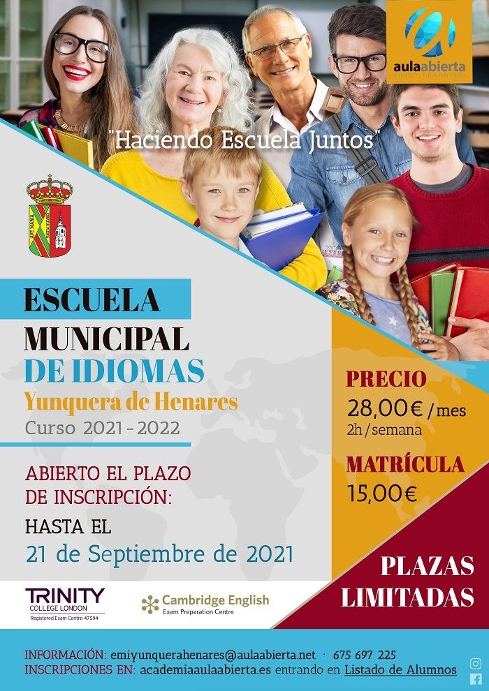 La Escuela Municipal de Inglés de Yunquera de Henares tiene abierto su periodo de inscripción