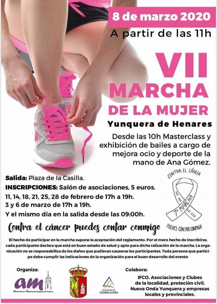 La VII Marcha de la Mujer de Yunquera de Henares llevará el lema 'Contra el cáncer puedes contar conmigo'