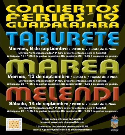 Ya están a la venta las entradas para los conciertos de las Ferias de Guadalajara