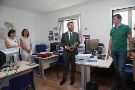 Escudero ha valorado el esfuerzo de los agentes medioambientales, los técnicos y los empleados de la empresa pública Geacam